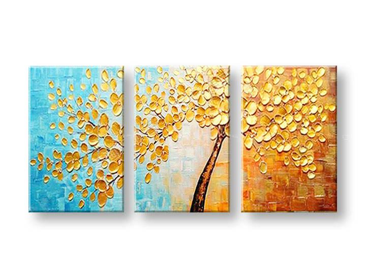 Ručně malovaný obraz na zeď STROM FB204E3 malované obrazy FABIO
