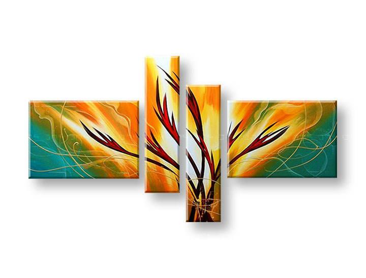 Ručně malovaný obraz na zeď ABSTRAKT FB213E4 malované obrazy FABIO