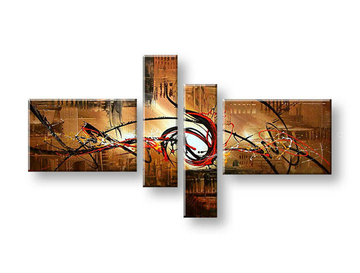 Ručně malovaný obraz na zeď AFRIKA FB214E4 malované obrazy FABIO