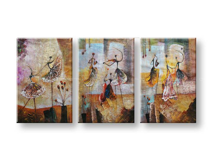 Ručně malovaný obraz na zeď TANEČNICE FB223E3 malované obrazy FABIO