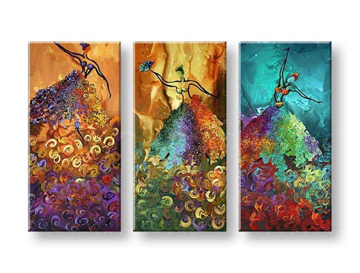 Ručně malovaný obraz na zeď TANEČNICE FB235E3 malované obrazy FABIO