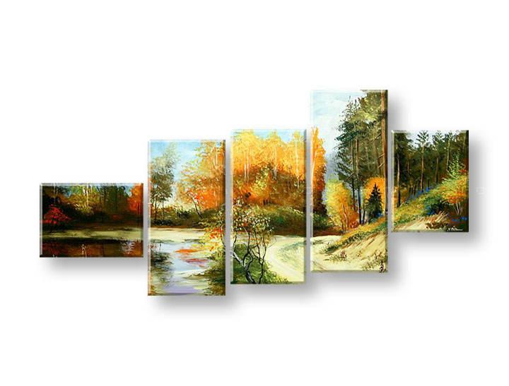 Ručně malovaný obraz na zeď STROMY FB243E5 malované obrazy FABIO