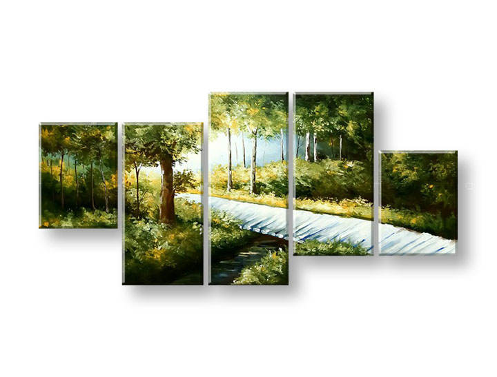 Ručně malovaný obraz na zeď STROMY FB245E5 malované obrazy FABIO