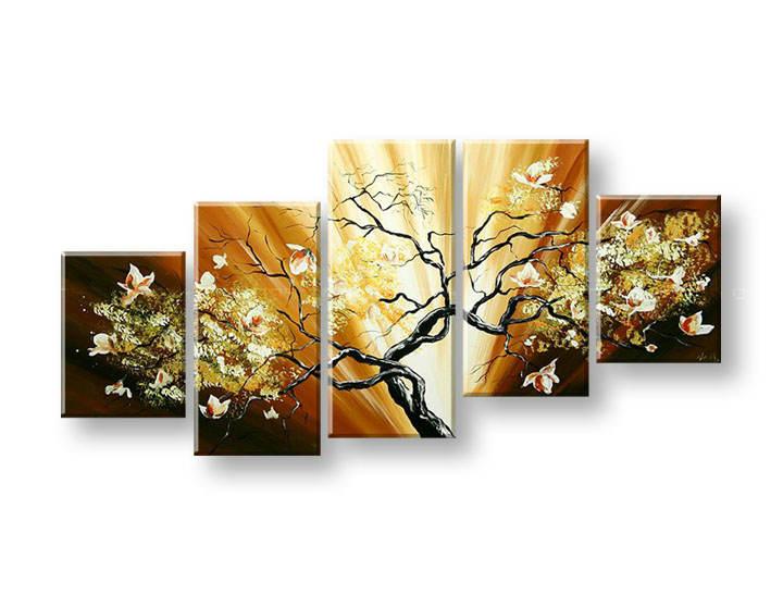 Ručně malovaný obraz na zeď STROMY FB248E5 malované obrazy FABIO