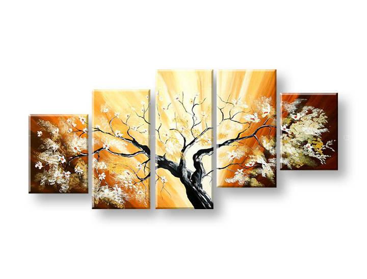 Ručně malovaný obraz na zeď STROMY FB256E5 malované obrazy FABIO