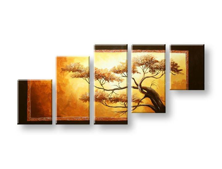 Ručně malovaný obraz na zeď STROMY FB258E5 malované obrazy FABIO