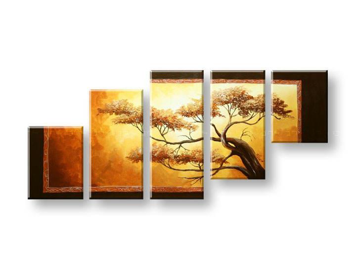 Ručně malovaný obraz na zeď STROMY FB270E5 malované obrazy FABIO