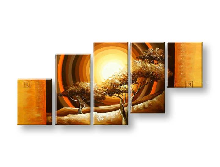 Ručně malovaný obraz na zeď STROMY FB277E5 malované obrazy FABIO
