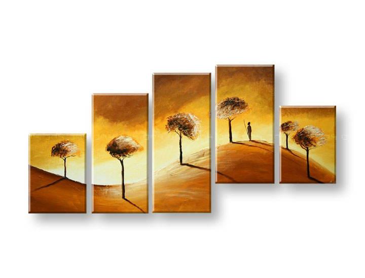 Ručně malovaný obraz na zeď STROMY FB287E5 malované obrazy FABIO