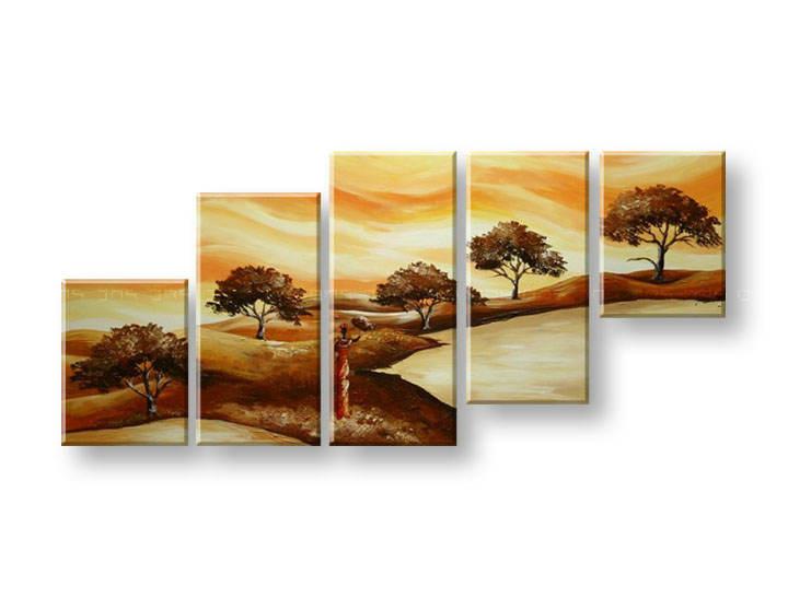 Ručně malovaný obraz na zeď STROMY FB288E5 malované obrazy FABIO