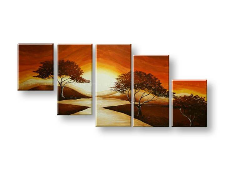 Ručně malovaný obraz na zeď STROMY FB289E5 malované obrazy FABIO