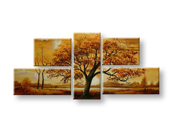 Ručně malovaný obraz na zeď STROMY FB290E5 malované obrazy FABIO