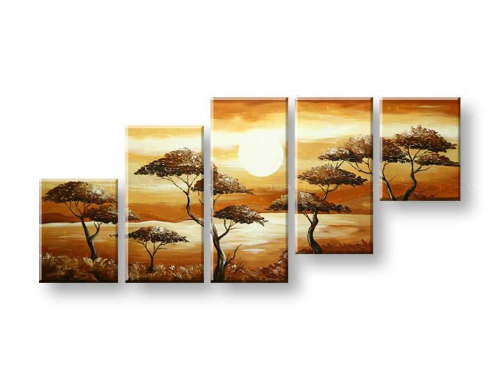 Ručně malovaný obraz na zeď STROMY FB293E5 malované obrazy FABIO