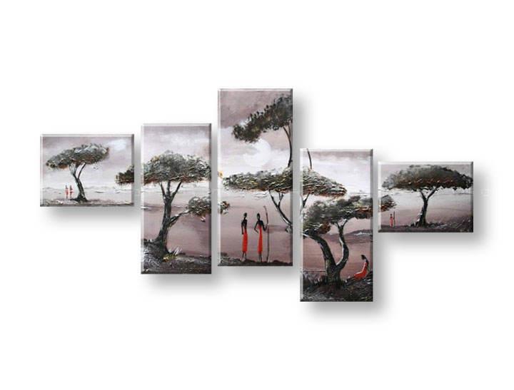 Ručně malovaný obraz na zeď STROMY FB294E5 malované obrazy FABIO