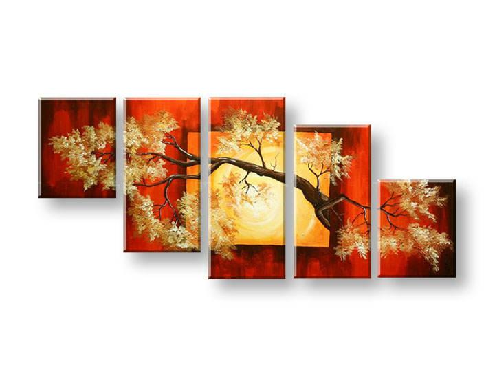 Ručně malovaný obraz na zeď STROMY FB297E5 malované obrazy FABIO