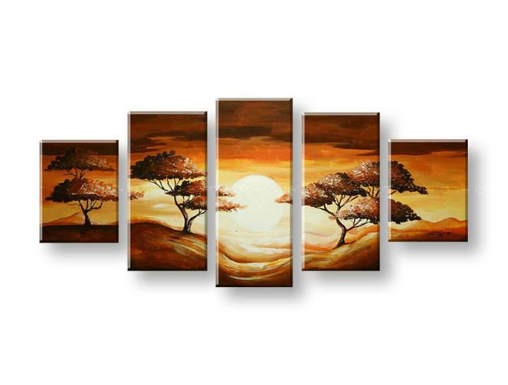 Ručně malovaný obraz na zeď STROMY FB298E5 malované obrazy FABIO