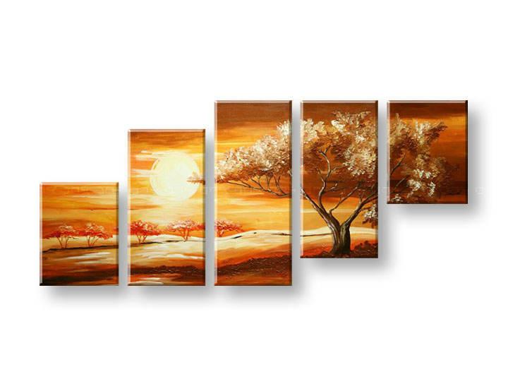 Ručně malovaný obraz na zeď STROMY FB299E5 malované obrazy FABIO