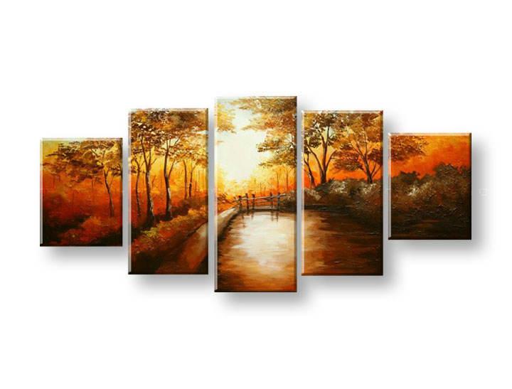 Ručně malovaný obraz na zeď STROMY FB315E5 malované obrazy FABIO