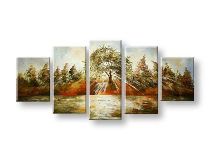 Ručně malovaný obraz na zeď STROMY FB324E5 malované obrazy FABIO
