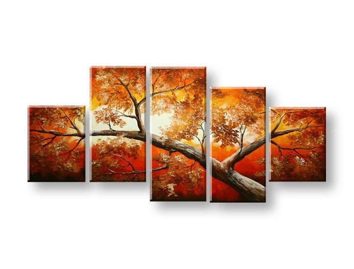 Ručně malovaný obraz na zeď STROMY FB326E5 malované obrazy FABIO