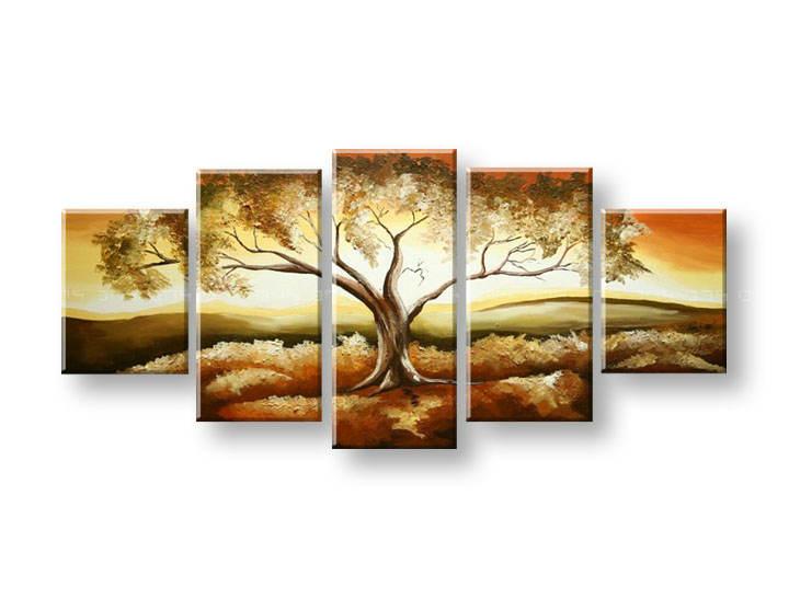 Ručně malovaný obraz na zeď STROMY FB338E5 malované obrazy FABIO