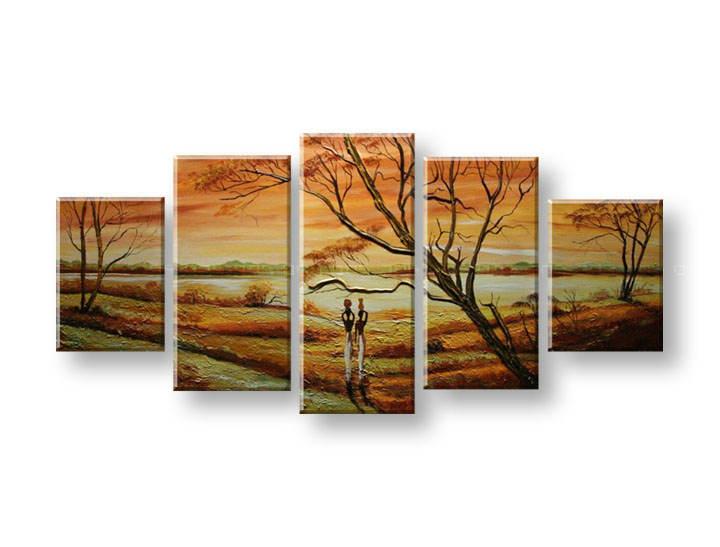 Ručně malovaný obraz na zeď AFRIKA FB360E5 malované obrazy FABIO