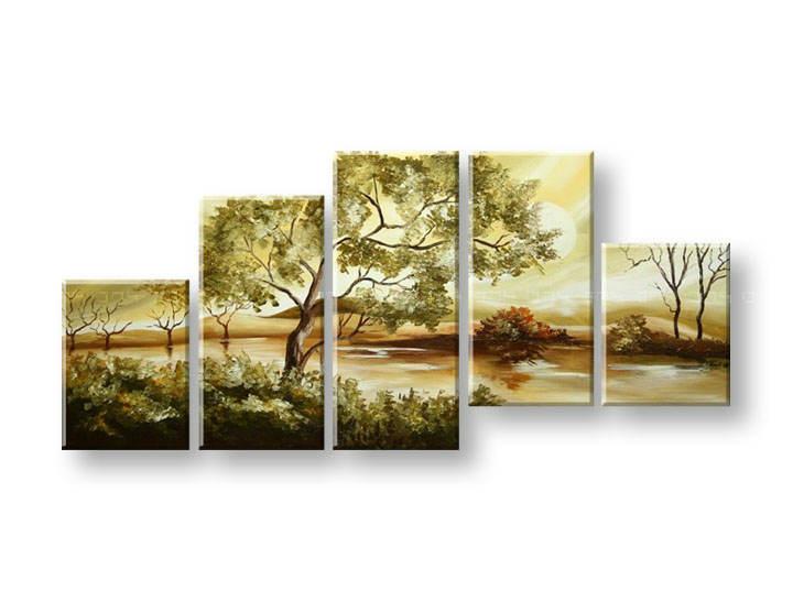 Ručně malovaný obraz na zeď STROMY FB373E5 malované obrazy FABIO