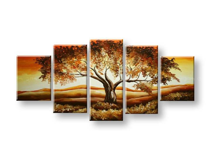Ručně malovaný obraz na zeď STROMY FB381E5 malované obrazy FABIO