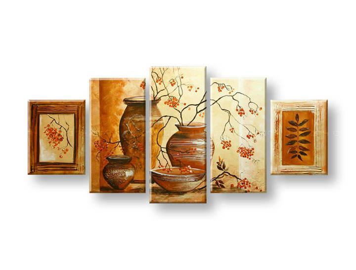 Ručně malovaný obraz na zeď VÁZY FB399E5 malované obrazy FABIO