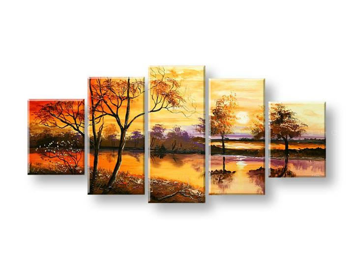 Ručně malovaný obraz na zeď STROMY FB408E5 malované obrazy FABIO