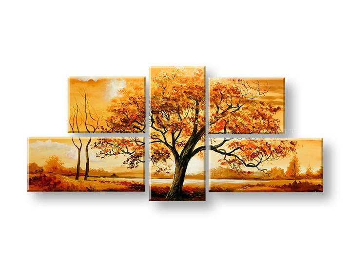 Ručně malovaný obraz na zeď STROMY FB410E5 malované obrazy FABIO