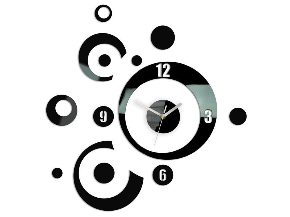 Moderní nástěnné hodiny PLANET NH005 nalepovací hodiny na stěnu