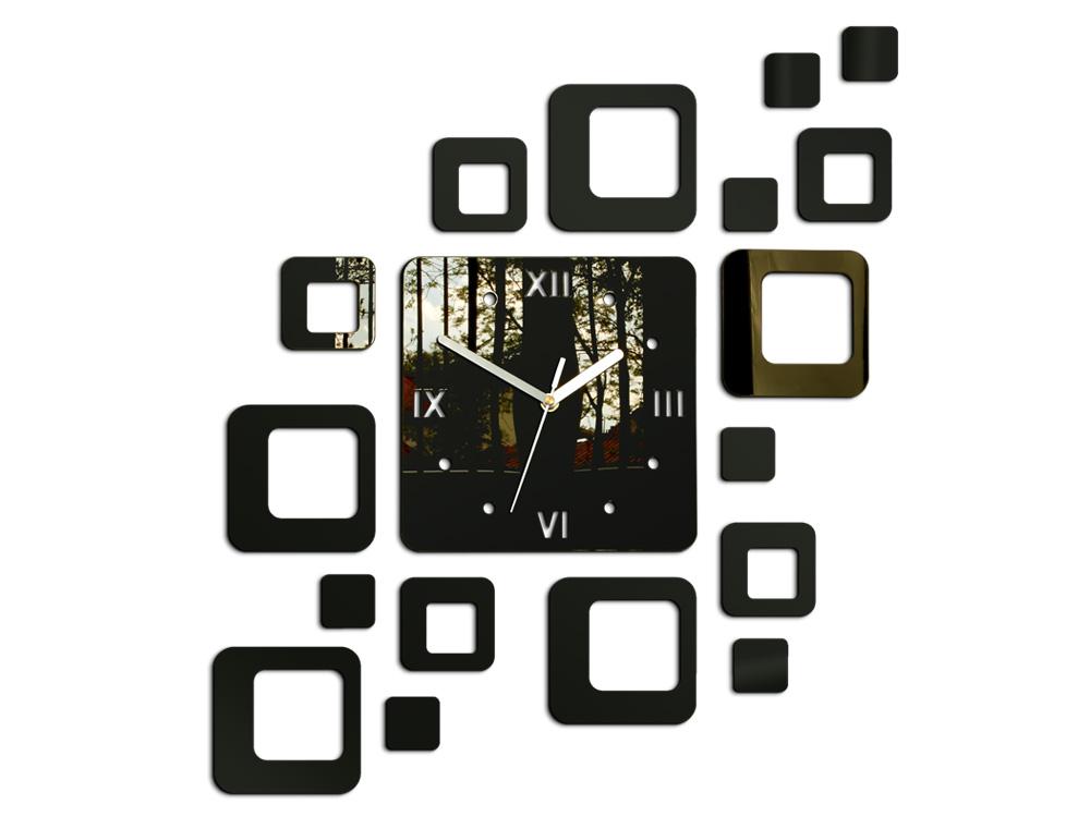 Levně Moderní nástěnné hodiny ROMAN WENGE HMCNH010-wenge