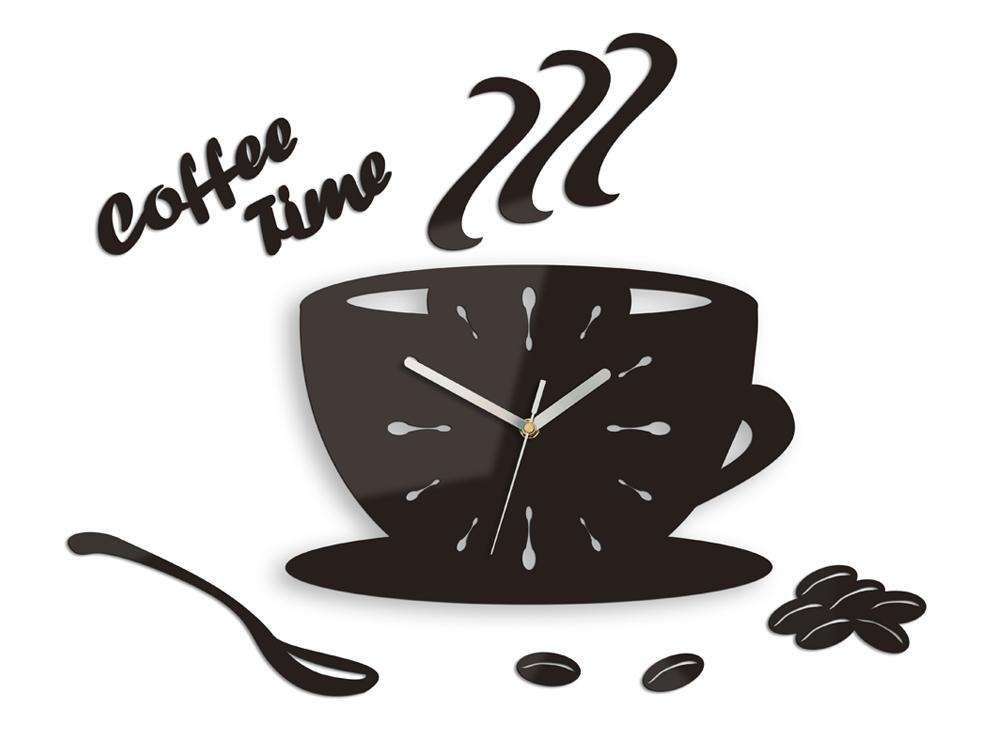 Moderní nástěnné hodiny Cup Clock NH015 nalepovací hodiny na stěnu