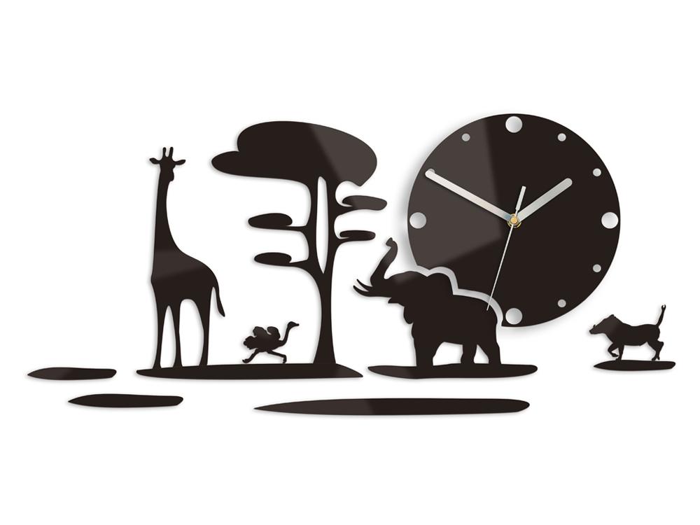 Moderní nástěnné hodiny SAFARI NH019 nalepovací hodiny na stěnu