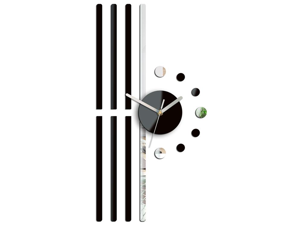 Moderní nástěnné hodiny LINE NH020 nalepovací hodiny na stěnu