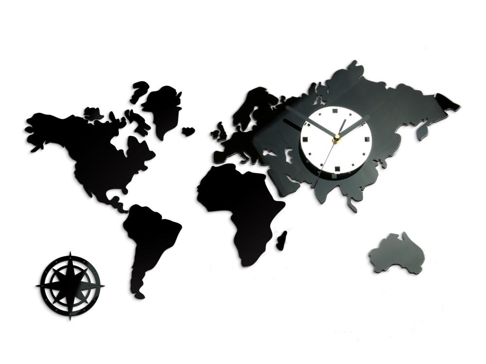 Moderní nástěnné hodiny WORLD NH021 nalepovací hodiny na stěnu
