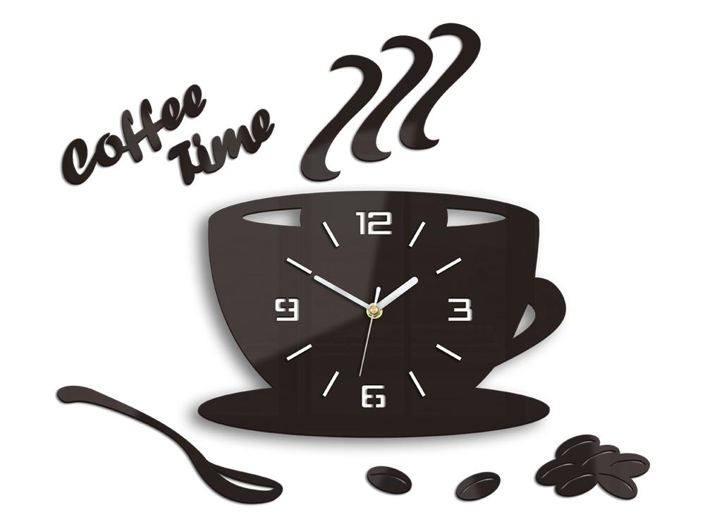b4979c3d0 Moderní nástěnné hodiny COFFE TIME 3D WENGE HMCNH045-wenge