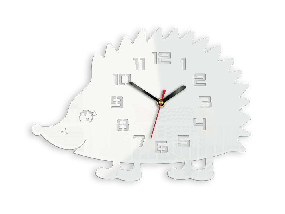 Moderní nástěnné hodiny JEŽEK NH053 nalepovací hodiny na stěnu