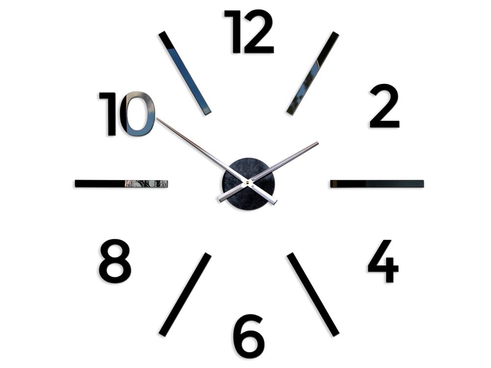 Moderní nástěnné hodiny AKSEL HMCNH055 nalepovací hodiny na stěnu