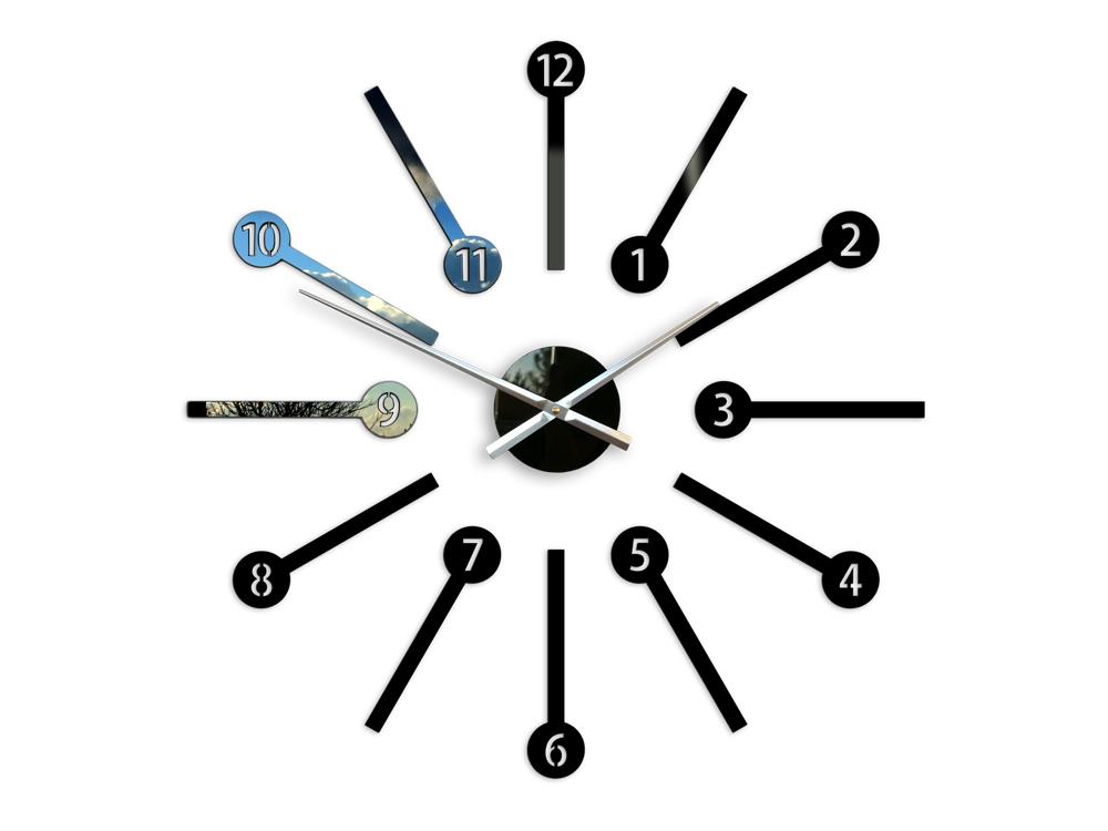 Moderní nástěnné hodiny METRO HMCNH063 nalepovací hodiny na stěnu