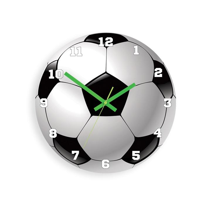 Moderní nástěnné hodiny FOOTBALL HMCNH076 nalepovací hodiny na stěnu