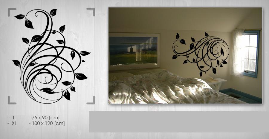 Nálepka na zeď KVĚTINY NAK018 samolepky na zeď