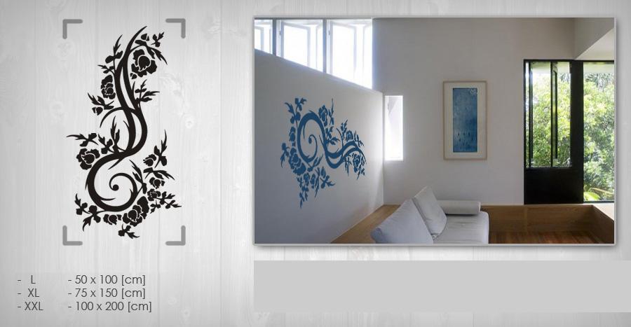 Nálepka na stenu KVETY NAK074 samolepky na zeď