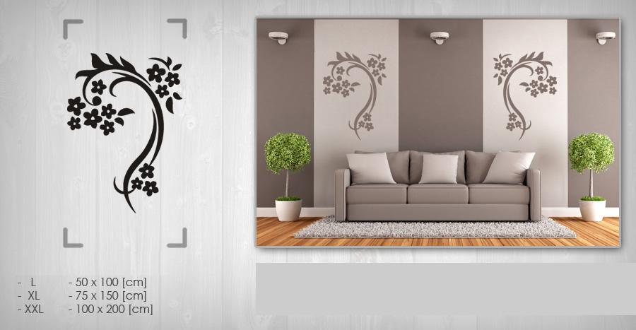 NÁLEPKY na zeď  Nálepka na stenu KVETY NAK092  Obrazy na stěnu pro moderní ...
