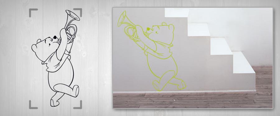 Nálepka na zeď pro DĚTI – MACKO PU samolepky na zeď