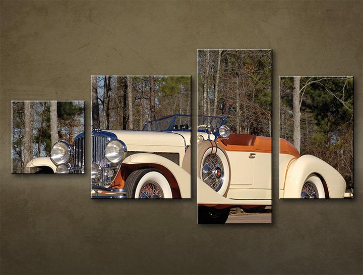 HD obraz na plátně 4 dílný MOTO MO003M4 moderní 4 dílný obraz na plátně