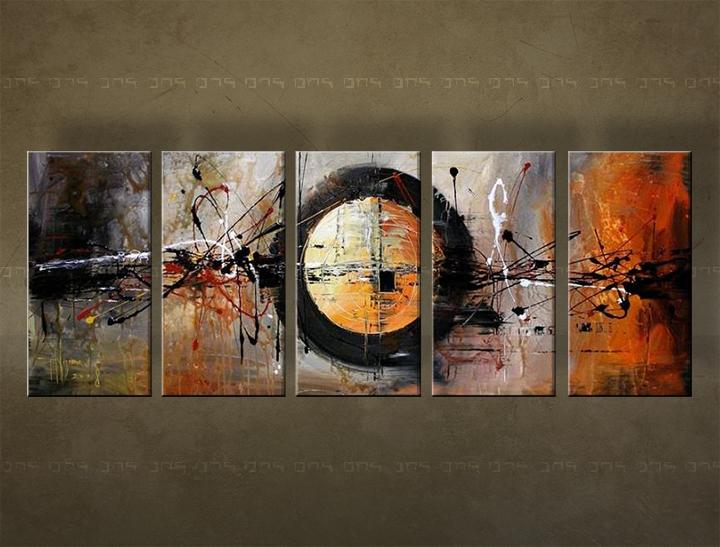Ručně malovaný obraz na zeď ABSTRAKT FB041E5 malované obrazy FABIO