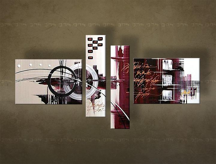 Ručně malovaný obraz na zeď ABSTRAKT FB122E4 malované obrazy FABIO