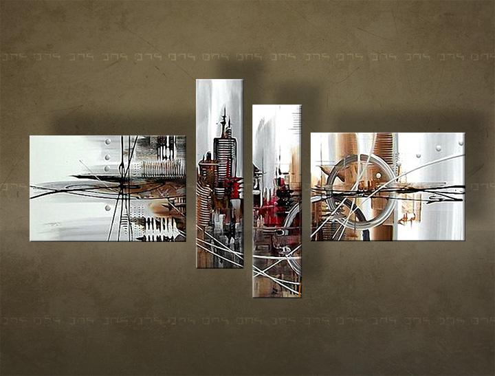 Ručně malovaný obraz na zeď ABSTRAKT FB124E4 malované obrazy FABIO